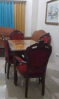 Italian Marquetry dining set