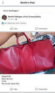 LV epi travel bag
