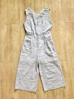Mimasaka Woven Fabric Light Blue Jumpsuit