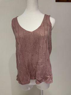 Monocode 無袖 粉色 針織 背心 上衣 衣服 #支持