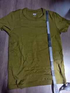 Mustard Green Blouse Shirt - Uniqlo