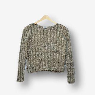 Sweater Cable Crop Kepang