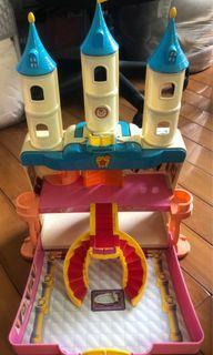 Tomy 迪士尼Disney 公主城堡 組合玩具 提盒