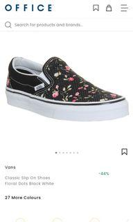 Vans flower dots (mirip niall horan)