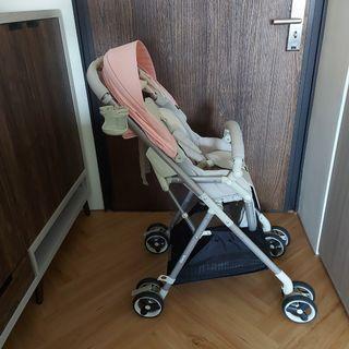 VINNG超輕便高景觀嬰幼兒手推車 挑高56cm 一鍵單手收放 多重避震 僅重5.6kg 單向