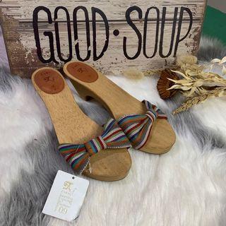 Zara TRF wooden slip on mules