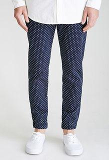 21MEN by Forever21 Polka Dot Jogger pants. Black. Size 33. New with tags