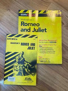 2 Cliffs notes Cliffs Complete Shakespeare's Romeo & Juliet guide book