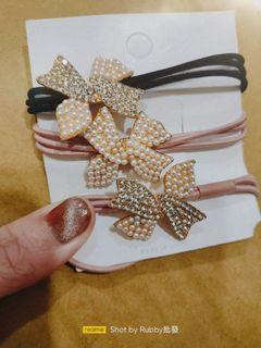 珍珠鑽髮圈/髮飾類一條