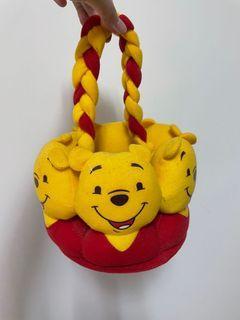 Disney  迪士尼 小熊維尼 籃子 袋子 可愛 玩具 玩偶 娃娃