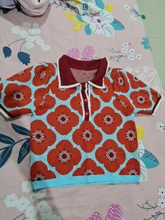 Baju knit bunga