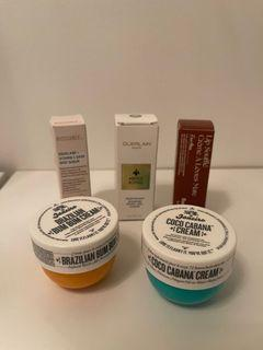 Beauty travel size products