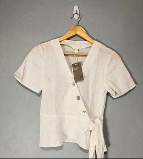 BNWT H&M linen top