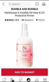 Bumble and bumble hairdressers invisible oil primer