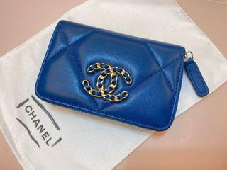Chanel 限量19 金色拉鍊 錢包