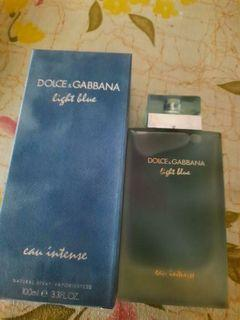 D&G light blue woman intense authentic US tester perfume