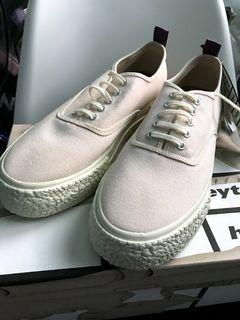 EYTYS x H&M canvas sneakers. Size 43 (10 USmens). Off white. Brand new with box and tag