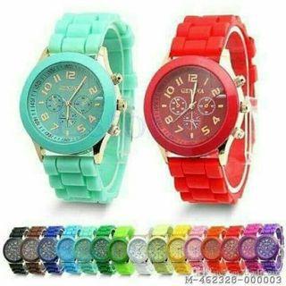 Jam tangan wanita rubber diskon 50% sampai akhir Juli
