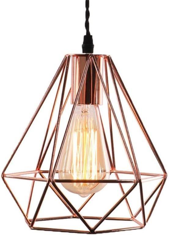 Modern Geometric Style Lampshade Copper, Rose Gold Pendant Lamp Shade