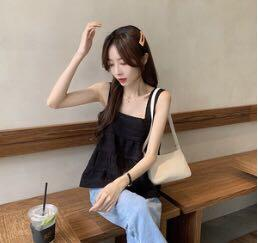 Korean casual top (black)