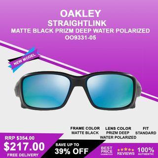 Oakley Straightlink Matte Black Prizm Deep Water Polarized OO9331-05