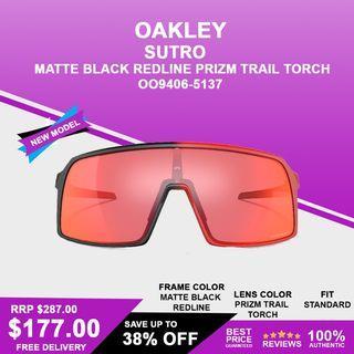 Oakley Sutro Matte Black Redline Prizm Trail Torch OO9406-5137