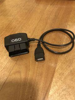 OBD降壓線 ACC 行車記錄器24小時供電USB