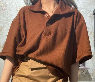 Oversized Terracotta shirt