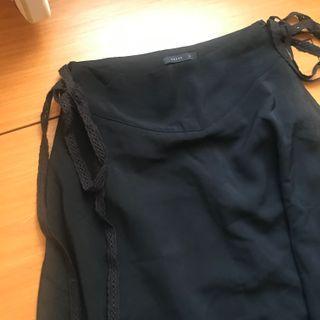 Pazzo 綁帶西裝面材質傘狀長裙