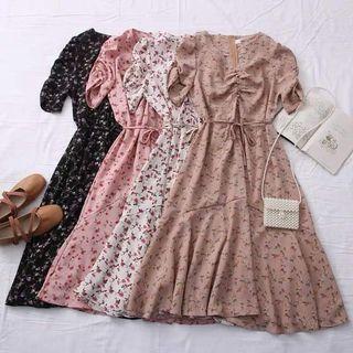 🍒Printed Midi  Dress 5 colors cd71121