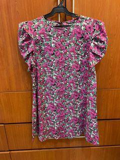 Shein Floral Violet Dress