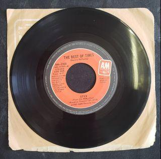 """Styx - The best of times (7"""" single)"""