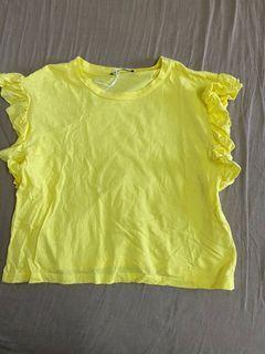 Zara黃色上衣