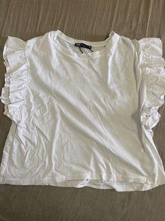 Zara白色上衣