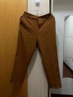焦糖色西裝寬褲 西裝褲