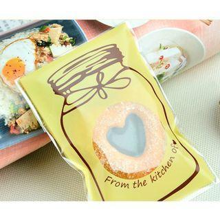 🆕️ Homemade Cookie Jar Design 40pcs Candy Souvenir Self Adhesive Plastics 🍪🍬