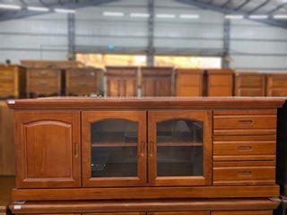 大鑫傢俱 NG庫存六尺柚木色(胡桃色)三抽拉門電視櫃/客廳桌/和室桌/沙發桌/大茶几/電視櫃