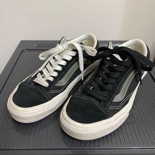 絕版 vans style 36 黑 綠線 墨綠 US7 25cm