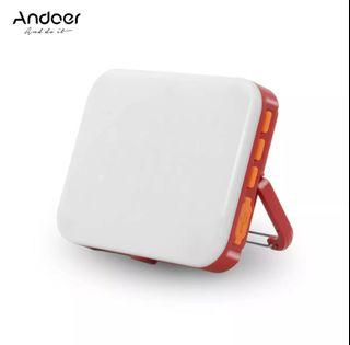 Andoer LY-01 LED RGB Lighting Camera with tripod hole, Magnet Suction, Police Flash Effect.
