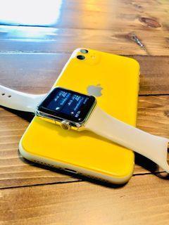 Apple watch stainlesstell langka series 1 38mm iwatch chrome