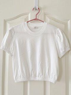 Aritzia Crop White Tshirt