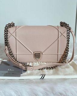 Authentic Christian Dior Diorama Medium in Powder Pink SHW