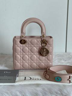 Authentic Christian Dior My ABC Lady Dior Small in Nude Beige CGHW