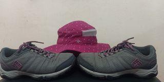 Combo Columbia Bucket Hat & Hiking Shoes