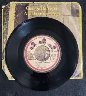 "George Harrison - All those years ago (7"" single) vinyl Record"