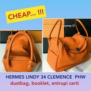 HERMES LINDY 34 CLEMENCE PHW