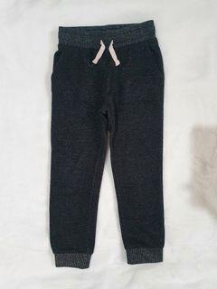 H&M Glittery Jogger Pants 3-4yo