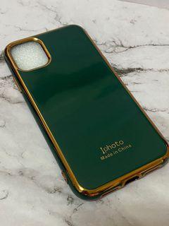I phone 11金邊 優雅綠 手機保護殼