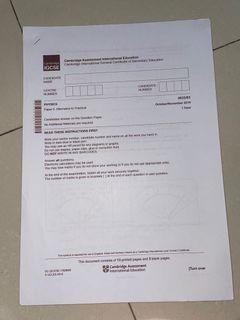 IGCSE Physics 0625 Past Paper (Udah dijawab)