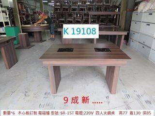 K19108 SR-15T 雙爐 四人火鍋桌 220V @ 火鍋桌 餐桌,聯合二手倉庫,搬家二手家具,估價 回收家具,展示櫃 櫃檯,推薦 家具回收